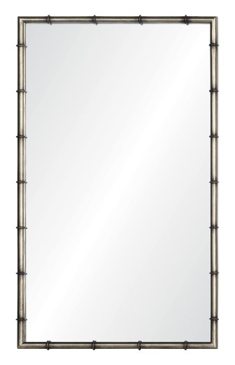 Simple Bamboo Mirror Silver