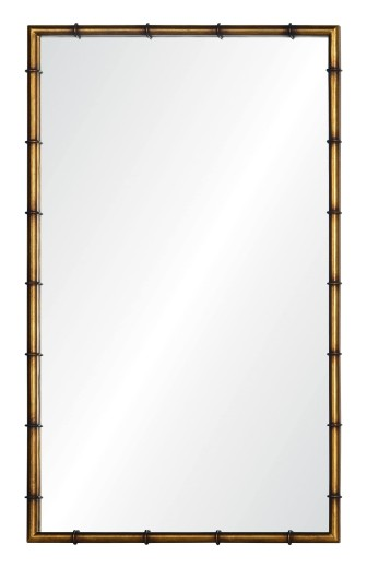 Simple Bamboo Mirror Gold