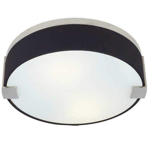Baxter Flush Mount Black Fabric