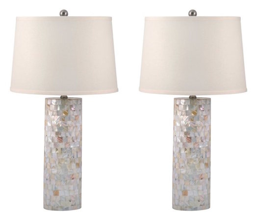 Mother Of Pearl Lamps (Set of 2)