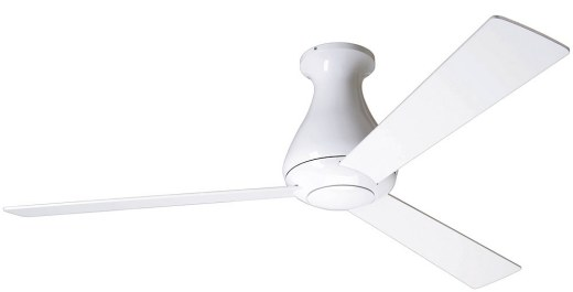 Altus Flush Mount Fan Gloss White