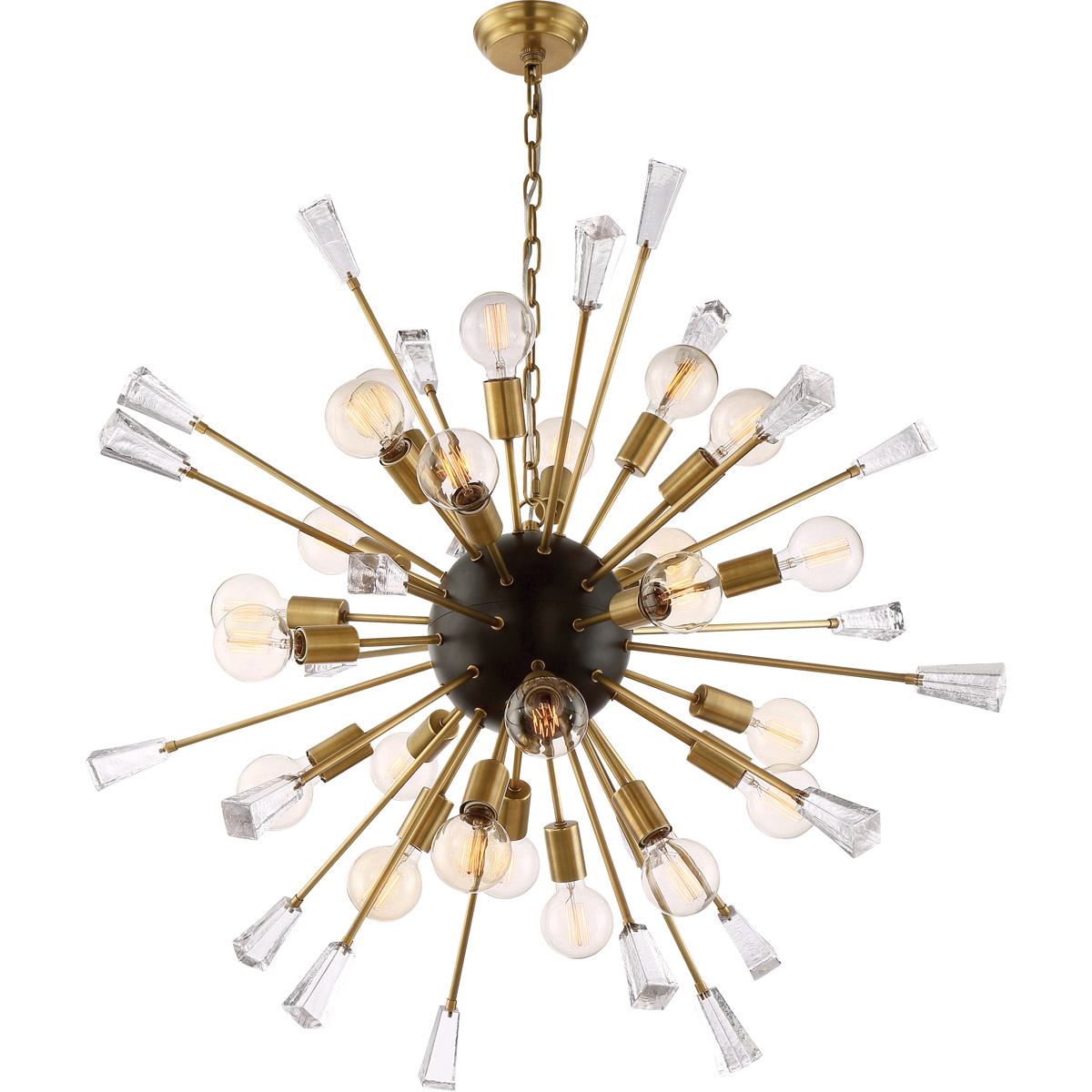 Muse chandelier 38 brass