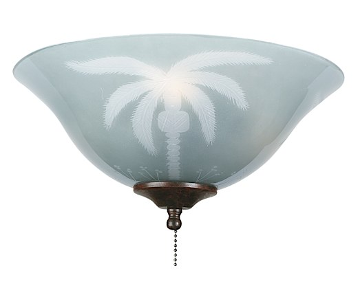 Tropical Frosted Glass Bowl