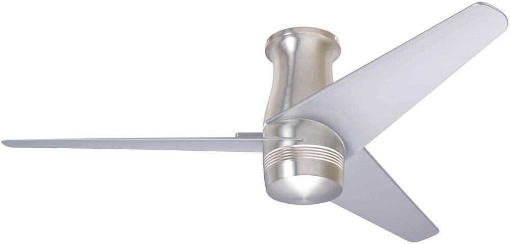 Modern Fan Company Velo Dc Flush Mount 48 Quot Fan Bright Nickel