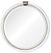 Brownstone Round Acrylic Mirror Nickel