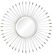 Acrylic Sunburst Mirror Nickel