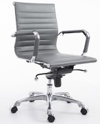 Lucy Mid Back Ribbed Office Chair Gray