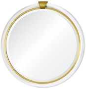Brownstone Round Acrylic Mirror Brass