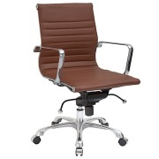 Lucy Mid Back Ribbed Office Chair Terracotta