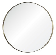 Simple Round Mirror Brass
