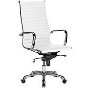 Lucy High Back Ribbed Office Chair White