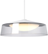 Masque Grande Pendant Clear/White