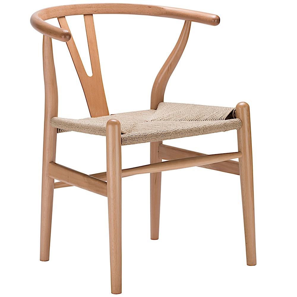 Sarah Wishbone Chair   Natural