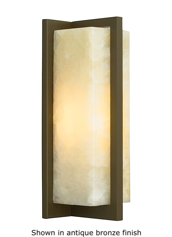 Genial Coronado Wall Sconce Honey Onyx   Satin Nickel